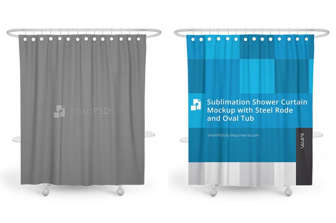 Sublimation Shower Curtain Mockup ~ Product Mockups ~ Creative Market