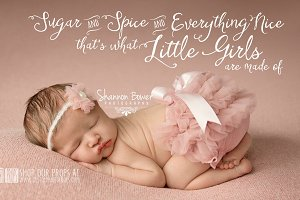 Girl Word Phrase Photo Overlay PNG