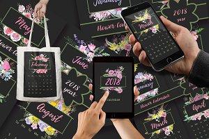 №257 Flower Calendar 2018 year