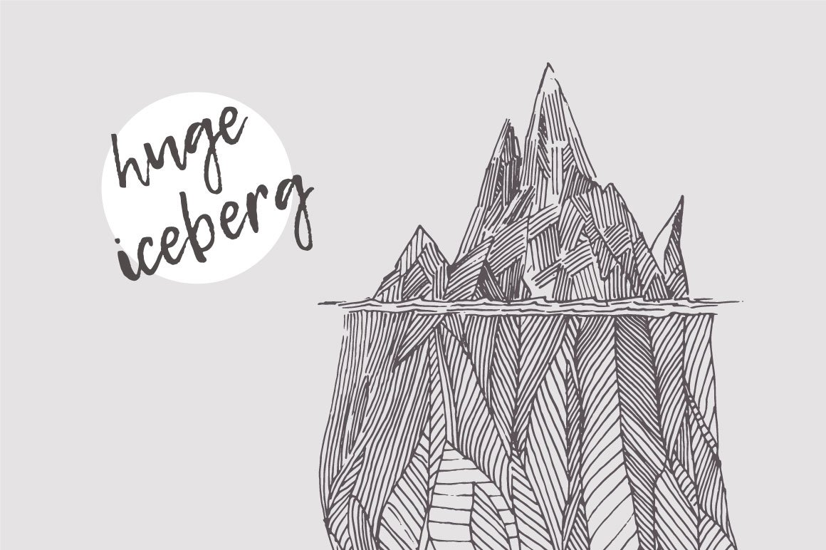 Illustration Of An Iceberg Illustrations Creative Market