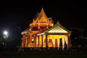 Thai-style buildings.