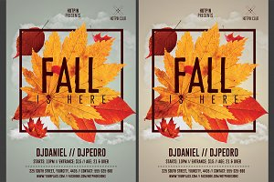 Fall Party Flyer Template