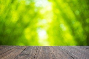 brown oak wood table