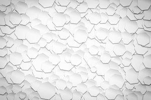 white heptagonal pattern