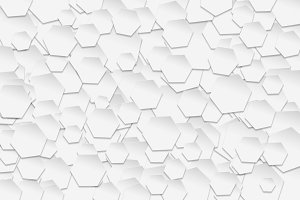 white hexagonal pattern
