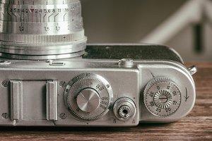 Vintage camera details