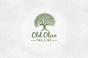 Old Olive Logo Template