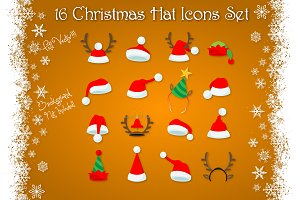 Christmas Hats Icon Set