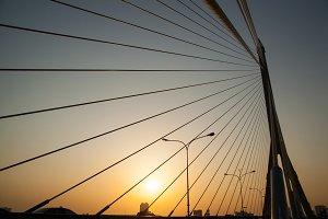 Bridge in the evening.