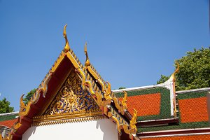 Thai temple roof.