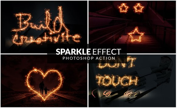 Sparkle Effect Photoshop action