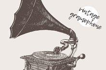 Illustration of a gramophone