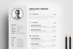 Resume CV with Portfolio