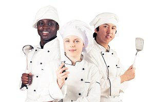 Multi-ethnic Group Of Cooks