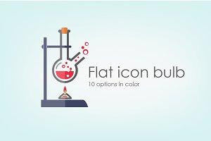 Set Flat icon bulb