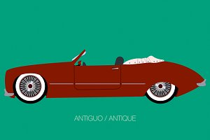 antique convertible classic car