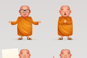 Buddhist cute monk