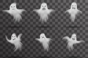Halloween white scary ghost