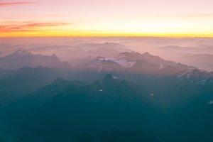 Sunrise Over The European Alps