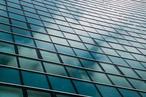 Office building windows
