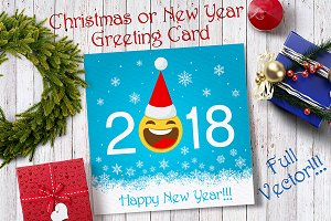 New Year Smiley Greeting Card