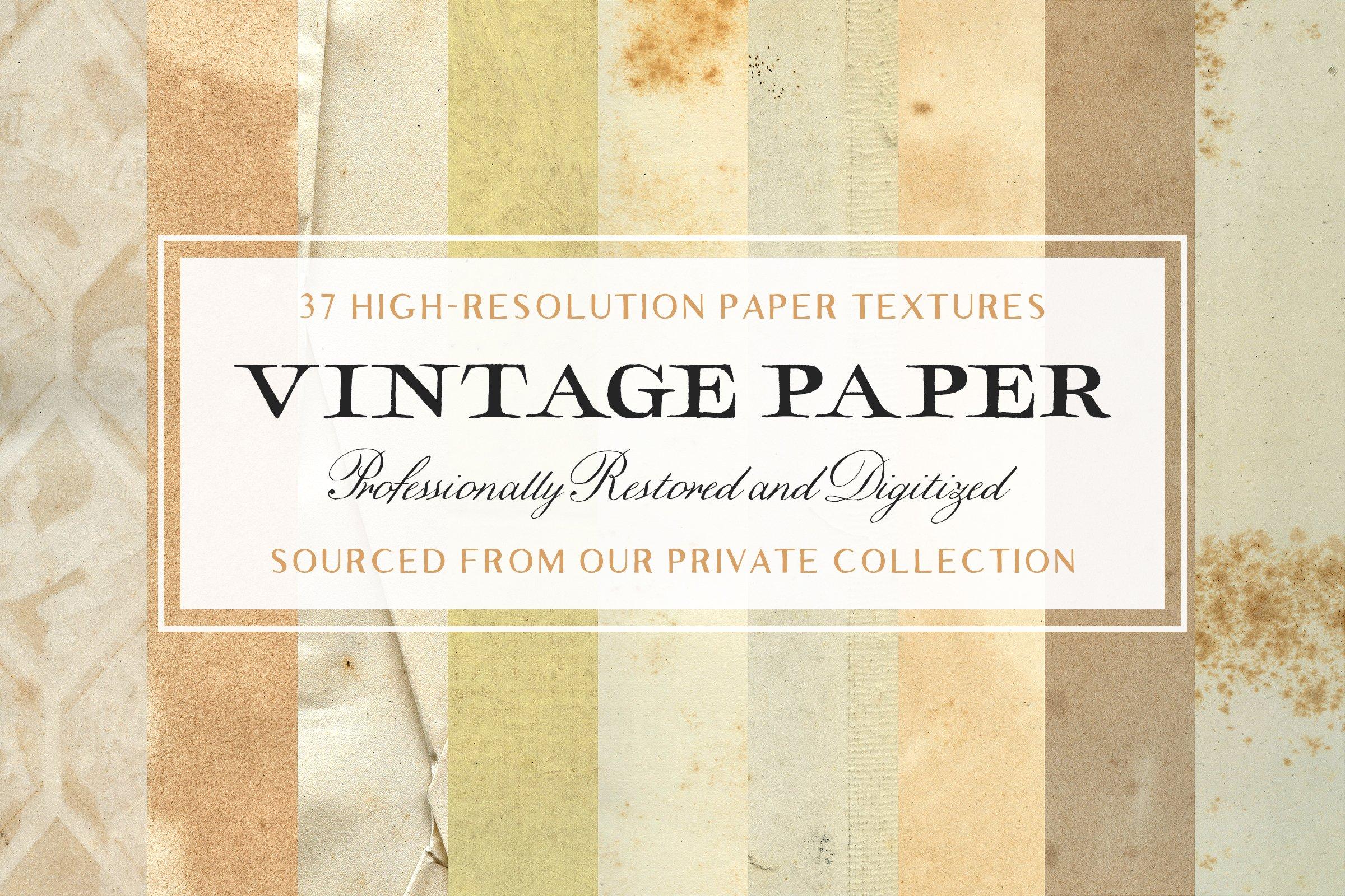 37 Vintage Paper Textures