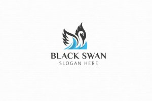 Black Swan Logo Template