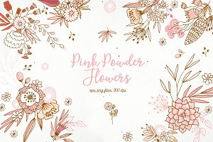 Pink Powder Flowers