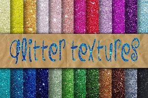 Glitter Textures Digital Paper