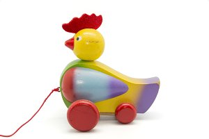 rooster on wheels