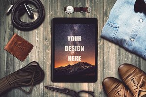 Travel Scene and iPad Mock-up #2