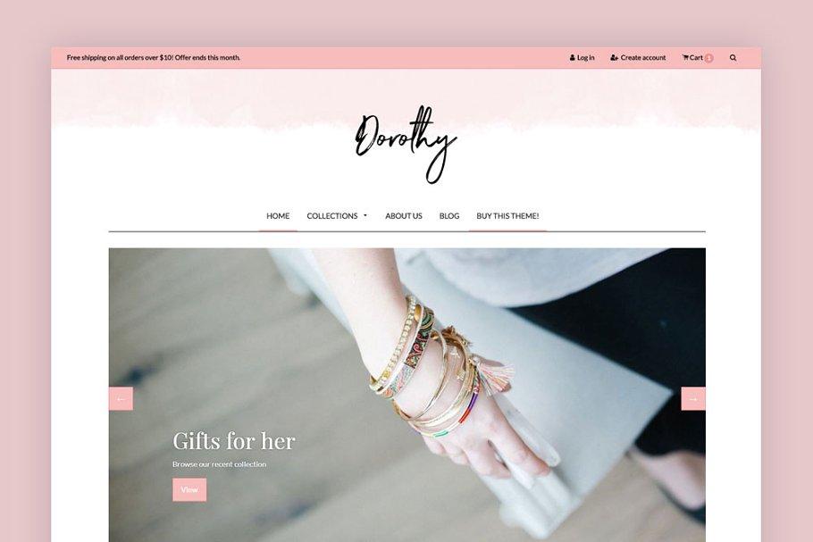 Feminine Shopify Theme - Dorothy ~ Web Themes ~ Creative Market