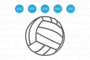 Volleyball SVG Cut File for Cricut