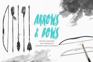 Hand-Drawn Arrows & Bows