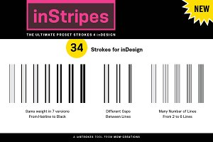 inStripes -Preset Strokes 4 inDesign