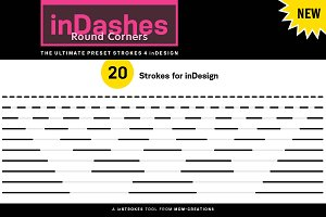 inDashes Round - Strokes 4 inDesign