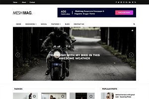 Meshmag Magazine Blogger Template