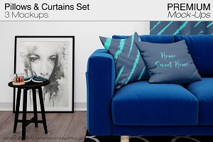 Pillows & Curtains Set