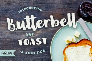 Butterbell & Toast Textured Font Duo