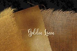 Gold Linen Texture Overlays