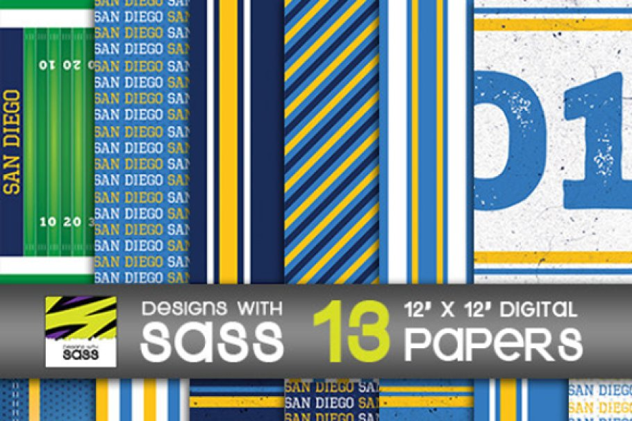 Digital Paper, San Diego Football