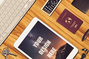 Travel Scene and iPad Mock-up #5
