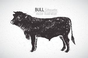 Graphical bull and inscription