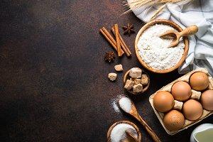 Baking background.
