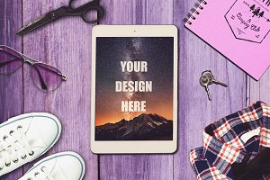 Travel Scene and iPad Mock-up #6