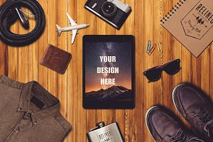 Travel Scene and iPad Mock-up #7