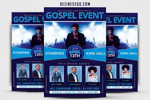Gospel concert event Church Flyer