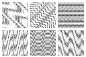 Geometric wavy pattern set