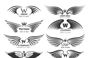 Wings logotype set