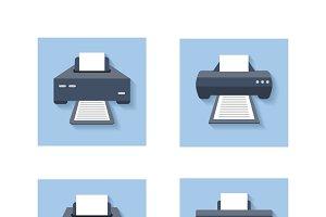 Print flat icons